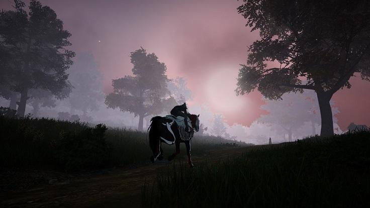 月に向かって走る馬君