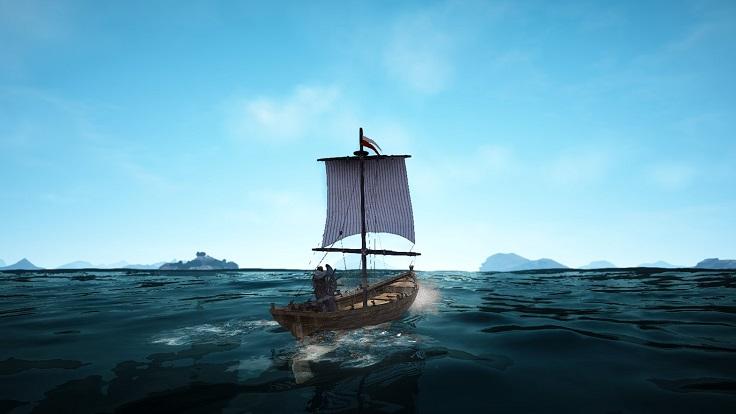 洋上の漁船