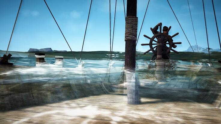 漁船が浸水