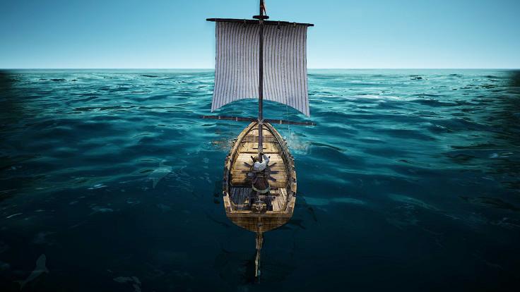 進まなくなった漁船