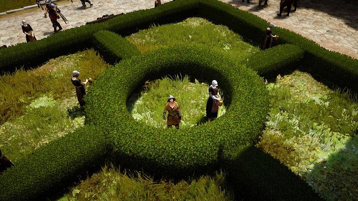 エフェリア港町の庭園で記念撮影