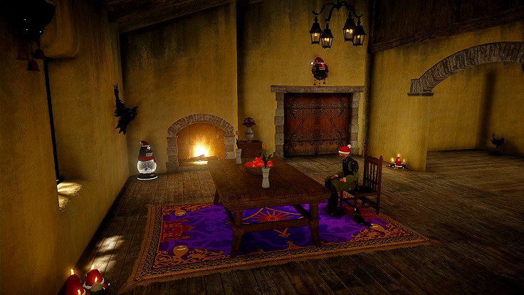 マジックカーペットを設置した部屋