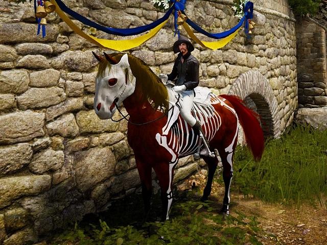 スケルトン馬具を装備した6世代雌馬