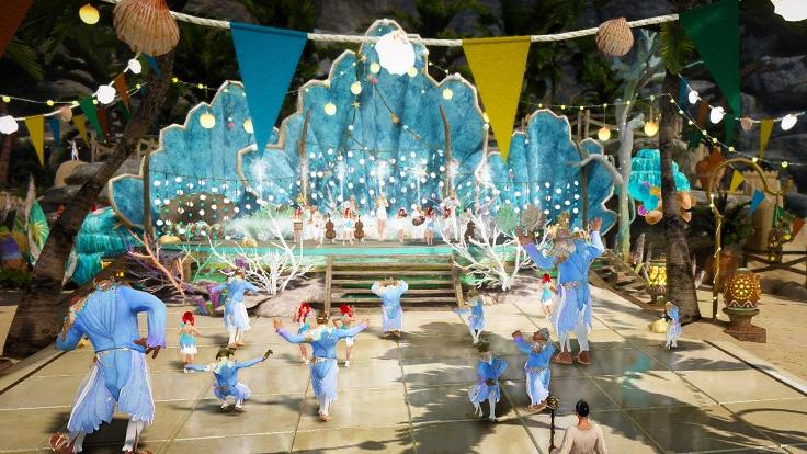 テルミアンウォーターパークには音楽と踊りがいっぱい