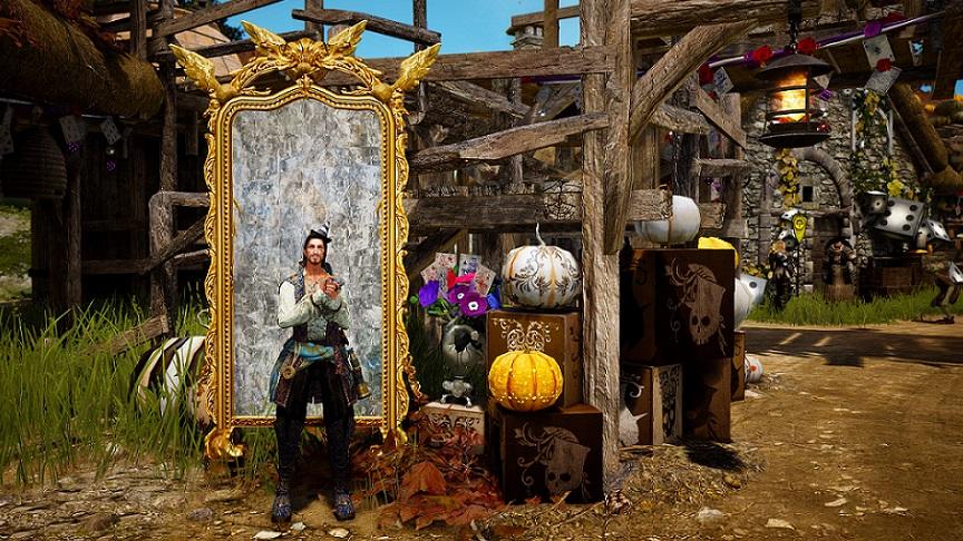ハロウィンイベント装飾(鏡)