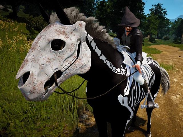 ボロボロのスケルトン馬具セット