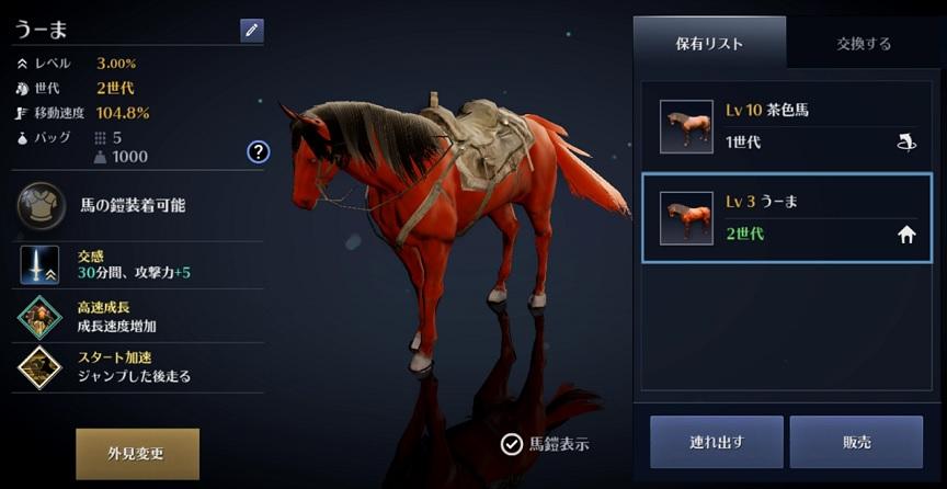 黒い砂漠モバイル「春休みスペシャルイベント」馬牌:2世代で仲間になった馬