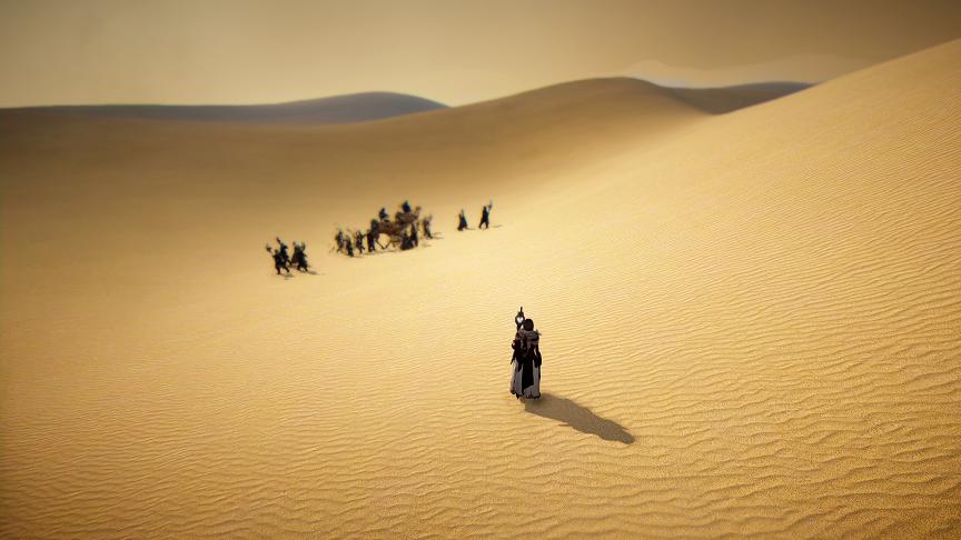 【黒い砂漠】砂漠の謎のキャラバン